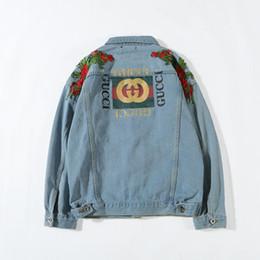 chaqueta de moto para hombre Rebajas Chaqueta de mezclilla de los hombres Chaqueta de diseñador de moda Marca Slim Motos causales Hombres y mujeres Abrigos de mezclilla Hip Hop Chaqueta de mezclilla de estilo vintage