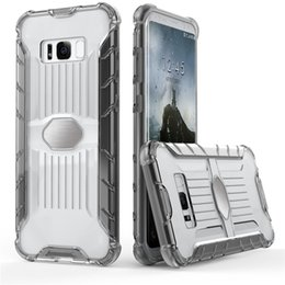 Wholesale Galaxy Goophone - luxury car magnetic phone case for samsung galaxy s8 plus note 8 case tpu pc 2 in1 clear transparent cover case goophone note8