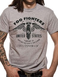 Wholesale Usa Tees - Wholesale-Foo Fighters FF T shirt men Nothing Left To Lose gift Casual tee USA size S-3XL