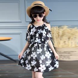 Vestuário idade 12 on-line-Adolescente Vestidos de Verão 2017 Roupas Infantis Crianças Flor Vestido de Chiffon Vestidos de Princesa Para A Idade 5 6 8 10 12 anos
