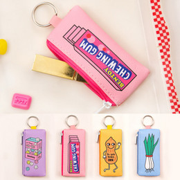 Wholesale Christmas Ornaments Sports - Korean Originality Facilitate Ornaments Shop Small Change bags Lovely Cartoon Key Buckle Food Small Change bags Hanging Drop