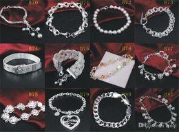 Brand New 925 Sterling Silver Bracelets bijoux mixte Style 925 argent Bracelet Bangle bijoux femmes de mariage cadeau 20pcs / lot ? partir de fabricateur