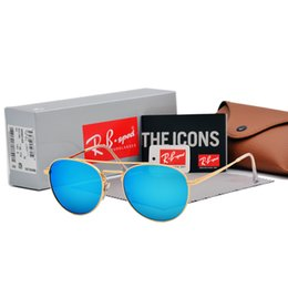 cef17db043 2019 Classic Brand Round Sunglasses Man women Metal Frame glass lens  Eyewear Glasses Retro Sun glasses Oculos De Sol with cases and box