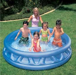 Wholesale Intex Pools - INTEX 58431 children's inflatable baby pool ocean ball pool thickened large family paddling adult bath size 188 * 46CM
