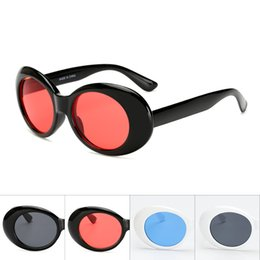 Wholesale gas mirror - Creative Ultraviolet Proof Sunglass Plastic Oval Full Frame Gasses Curved Mirror Leg Lightweight Comfort Anti Deformation Spectacles 3