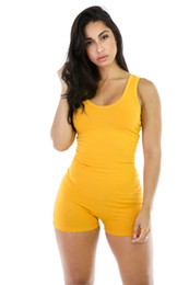 Club bodysuit online-Muchos colores eligen barato Sexy Body Women Sleeveles Playsuit Summer Bodycon Jumpsuit corto Mameluco Womens Jumpsuit Club Body Femme