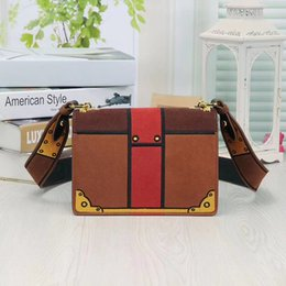 Wholesale spring tote handbags - Women new spring fashion designer luxury handbags genuine leather messenger crossbody PAA brand bags dhl fast shipping
