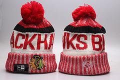 Wholesale Animals Chicago - New Style 2018 NHL CHICAGO BLACKHAWKS beanie hat cap baseball team winter beanies Embroidered casual beanies free shipping