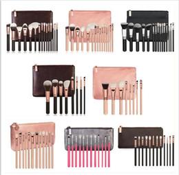 Wholesale Making Names - In Stock!Brand Name Make up Brush Set Cosmetic Brushes Eyeshadow Foundation Powder Brush Set with Leather Bag epack Free Shipping