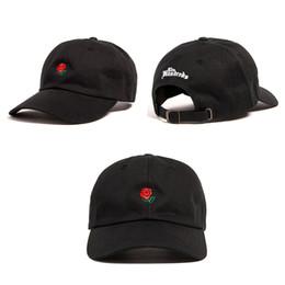Wholesale Brown Sun Hats - The Hundreds Rose Baseball Cap Snapback hats fashion design brand Rose Dad Hat sports hip hop sun Golf hat bone gorras cheap mens Casquette