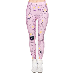 Wholesale 3d Sexy Cartoon Girls - New 3D Print Cartoon Cloud Women Leggings Sexy Leggins Shiny Jeggings Tayt Fitness Legging Calzas Mujer Soft legins girls