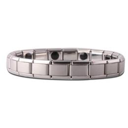 Cadena de mano magnética online-Pulsera magnética del brazalete de cadena de la mano Regalos plateados Terapia de la moda