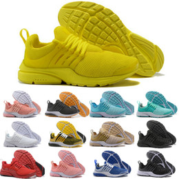 Wholesale lime green blue - 2018 New Presto 5 Ultra BR QS Black White Yellow Red Grey Running Shoes for Air Prestos Women Men Essential Cheap Casual Shoes