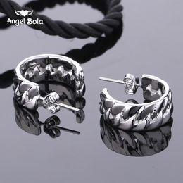 Wholesale Brass Needles - Fashion Popular 925 Silver Needle Semicircle Quartz Luxury Platinum Charm Buddha neutral jewelry earrings.