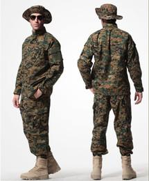 Wholesale work uniform pants - 6colors Uniforms BDU Combat Wargame Army Uniforms Set Coat+Pants,working suits