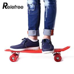 Wholesale Drift Skate Board - relefree 22 Inches Fish Skateboard 4 Wheel Long Mini Cruiser Skate Board Outdoor Street Long Skate Sports For Adult Children