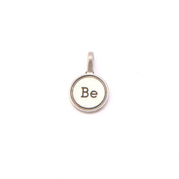 """antique floating charms wholesale UK - 2018 Wholesale 20pcs lot Antique Silver """"Be"""" Floating Tag Charms for Glass Lockets Pendants as the Best Gift"""