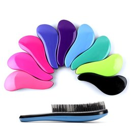 Wholesale Chicken Blue - Colorful Plastic Comb Chicken Leg Type Anti Static Hair Brush Soft Tangle Shower Massage Combs Pink Blue 3 1om B