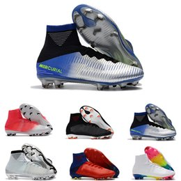 Wholesale burgundy products - Home> Shoes & Accessories> Sports Shoes> Soccer Shoes> Product detail White Red Rainbow 100% Original Soccer Shoes Mercurial Superfly V FG