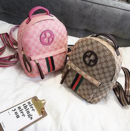 2019 modo del sacchetto di spalla del gatto Nuova borsa di tendenza della borsa di tela di spalla della stampa della borsa di tendenza di modo europeo e americano la borsa di viaggio delle signore della striscia di colore della borsa molle