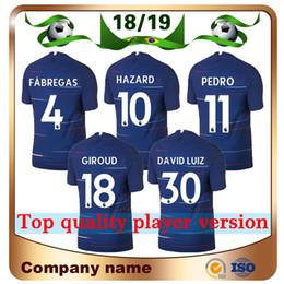 Wholesale soccer player jersey - 18 19 Player version 10 HAZARD Soccer Jersey 18 19 Home blue FABREGAS JORGINHO Soccer Shirt KANTE MORATA WILLIAN DAVID LUIZ Football uniform