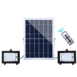 Двойные головки привели Солнечный прожектор 60LEDs 126leds 160LEDs 200LEDs водонепроницаемый IP65 Открытый сад уличный прожектор с дистанционным управлением cheap remote control head от Поставщики пульт дистанционного управления