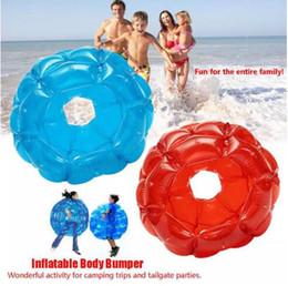 anúncio gigante do balão Desconto Bolha de ar inflável do PVC da bola do amortecedor do corpo Bolha exterior das bolas do amortecedor da bolha do jogo das crianças de 90cm