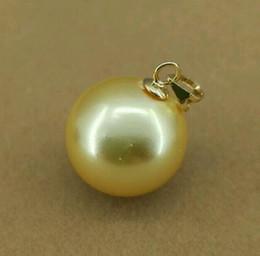 Wholesale 16mm South Sea Pearl Pendant - New Huge AAAA+ 16mm gold South Sea Shell Pearl 14K GOLD PENDANT