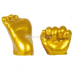 Wholesale wholesale baby keepsakes - 3D Keepsakes Baby Casting Kit Handprint Footprint Hand Plaster Cast Mould C2675