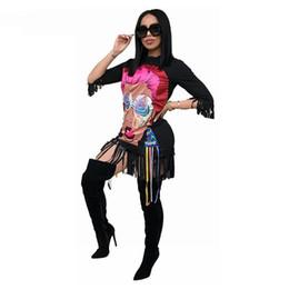 Argentina Personaje de dibujos animados Imprimir Sexy Bodycon Vestido de la novedad de media manga de la borla de la camisa floja vestido de fiesta informal de las mujeres Club Vestidos cheap sexy cartoon shirt Suministro