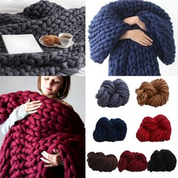 wool ball diy Coupons - Super Soft Warm 250G DIY Wool Yarn Bulky Arm Knitting Wool Roving Crocheting Wollen Ball For Hat Blanket Scarf As Gift 1206