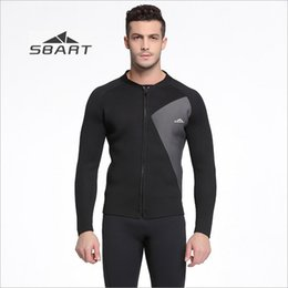 7881c8c9cb SBART 3mm Neoprene Men Wetsuit Jacket Black Winter Swimming Tops Long  Sleeve Rash Guard for Snorkeling Surfing Scuba Diving Equipment