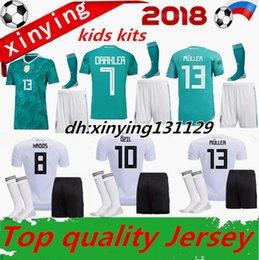 Wholesale Germany Kits - world cup 2018 GERMANY kids soccer jersey kit away muller HUMMELS 18 19 GORETZKA OZIL KROOS DRAHLER WERNER football uniform shirts