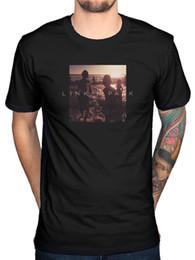 2019 tecido de malha leve Oficial Linkin Park Mais Uma Luz T-Shirt Minutos Para a Meia-noite Um Mil Areias de malha confortável tecido rua estilo homens t-shirt desconto tecido de malha leve
