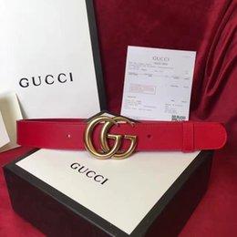 Wholesale G 27 - Original belt Big large buckle genuine leather belt designer belts men women high quality new G mens belts luxury brand belt free shipping.