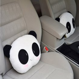 Wholesale Car Seat Lumbar Pillow - Soft Headrest Cute Panda Car Cushion Neck Back Lumbar Supports Rest Seat Pillow Styling Bedroom Decoration Hot Fashion
