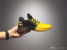 Wholesale Men S Soccer Shoes - 2018 James Harden Vol.1 2 Black History Month White Orange Gold Men\'s Basketball Shoes Harden Vol.1 Low BHM Boys Grade School Sneakers