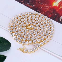 oro in miniatura Sconti Collana di zirconi in miniatura placcati oro europeo e americano di alta qualità. Collana da uomo 6mm