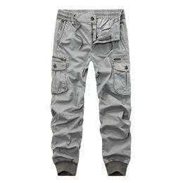 herren-baumwoll-leggings Rabatt Neue 2018 Marke Casual Joggers Einfarbig Hosen Männer Baumwolle Elastische Hose Militärischen Stil Armee Cargo Pants Herren Leggings