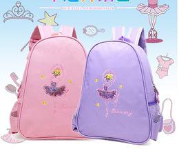 57fb12272601 Angel Dancing Ballerina Costume For Girls 2~8 Years Children Baby Kids  Ballet Dance Bag Canvas Shoulder Bag For Ballet Dance