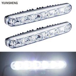 Wholesale daytime running lights led kit - 2 PCS 12v 6 LED Daytime Running Light Waterproof Universal DRL Kit Day Light Auto Driving External