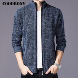 COODRONY Maglione Uomo Abbigliamento 2018 Inverno Spessore Caldo Cardigan  Uomo Cappotto di lana maglione di cachemire con fodera in cotone Zipper  cappotti ... 8e1c78a1308