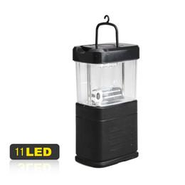 Wholesale led bivouac light - Portable Energy-saving Camping Fishing 11 LED Bivouac Lamp Hook Lantern Light A2 HR
