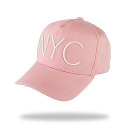 sombreros lisos para bordar Rebajas Nueva gorra de béisbol del lienzo de algodón liso ajustable ajustable con bordado letra NYC mujeres hombres unisex sombrero para el sol gorras de hueso