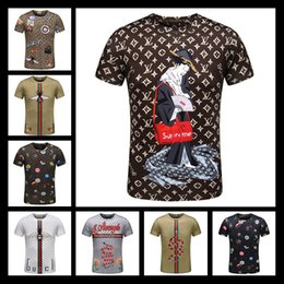 Wholesale Nwt Shorts - 2017 NWT Men Fashion3D T-shirt Novelty Casual Streetwear Men And Women Tops Short Sleeve Creative Printed Tees M~3XL
