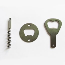 Wholesale polishing stainless - Stainless Steel Bottle Opener Part With Countersunk Holes Round Or Custom Shaped Metal Strong Polished Bottle Opener Insert Parts