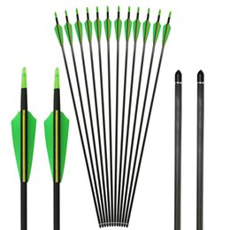 Wholesale Pointed Nail Tips - 12pcs 7mm Huntingdoor 31 Inch Carbon Arrows with Arrow Anti-nail Field Points Replaceable Tips for Compound Recurve Bow
