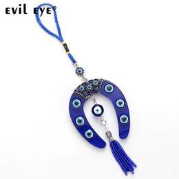 Evil Eye ENVÍO GRATIS 2018 forma de herradura de cristal del encanto del coche llavero colgante de la joyería con BULE MAL OJO BEY EY4734 desde fabricantes