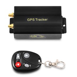 Wholesale Car Tracking Alarms - GPS Tracker Car Tracking Device Crawler Retainer Coban TK103B Cut Off Oil GSM GPS Locator Voice Monitor Shock Alarm FREE Web APP