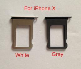 standard-sim-karte handys Rabatt Freier DHL für iPhone X XS Xs maximales XR SIM Karten-Behälter-Halter-Grau-Doppel-Sim Behälter